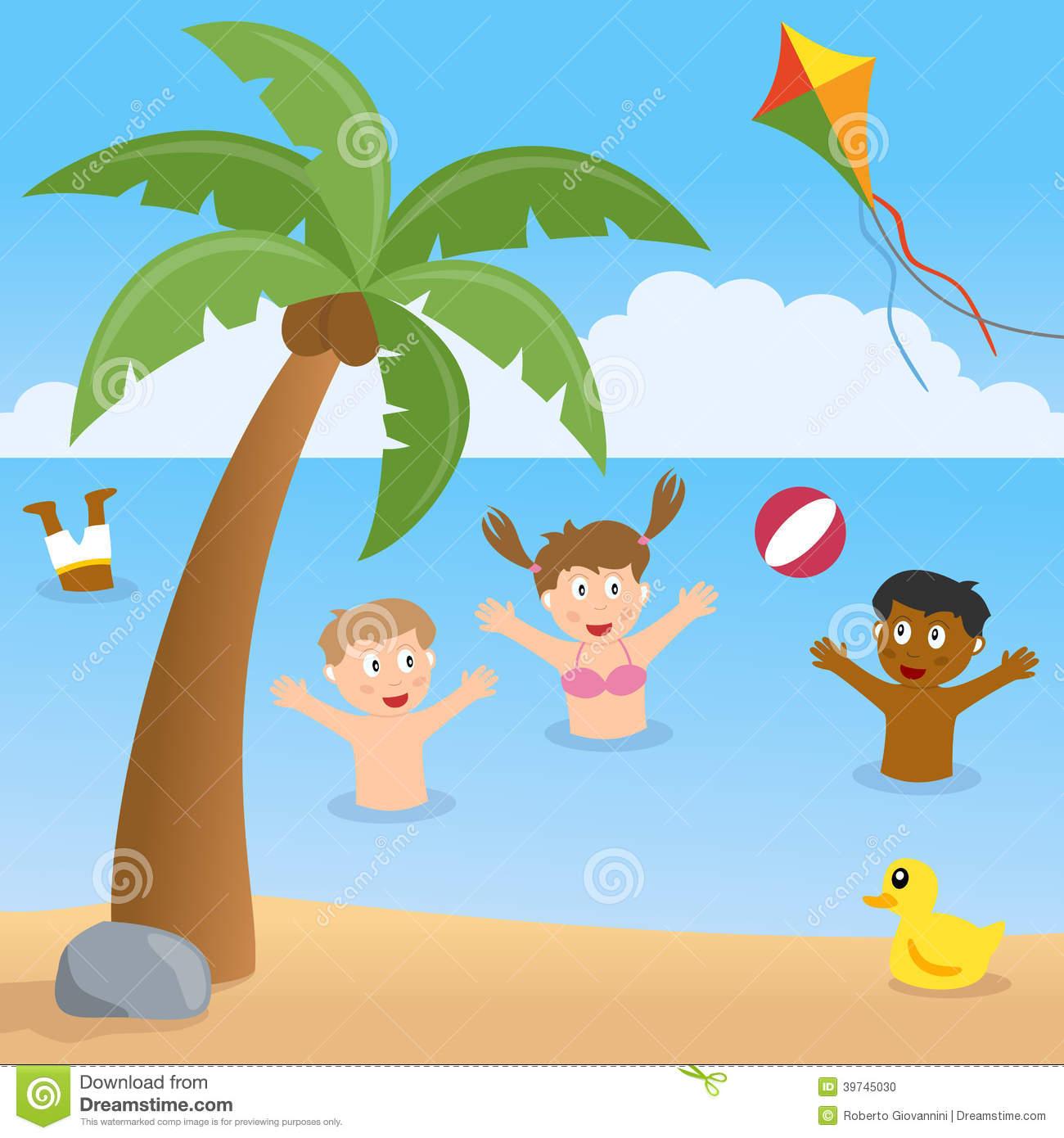 1300x1390 Beach Scene For Drawing Drawn Palm Tree Summer Beach