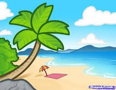 236x183 How To Draw A Beach For Kids, Step By Step, Landscapes, Landmarks