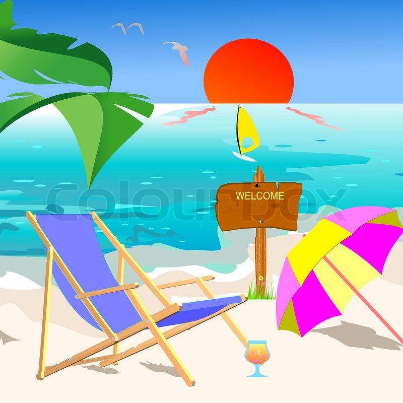 800x800 Summer Beach Scene