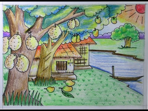 480x360 How To Draw Before Rainy Season Summer Season Indrajit Art