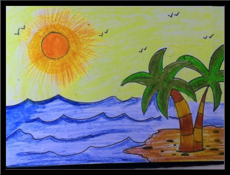 738x563 Summer Drawing Ideas For Kids
