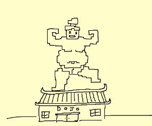 300x250 8 Bit Sumo Wrestler On A Dojo