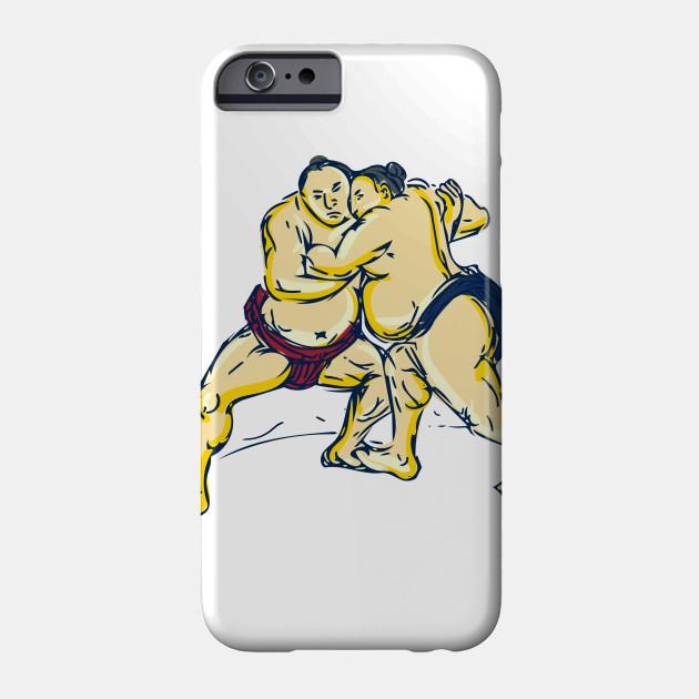 630x630 Japanese Sumo Wrestler Wrestling Drawing