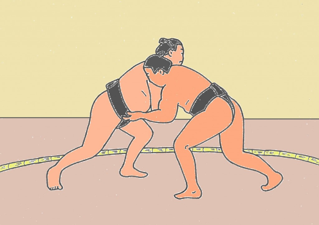 1024x723 Sumo Wrestlers Morning Training Watch In Osaka (February March)