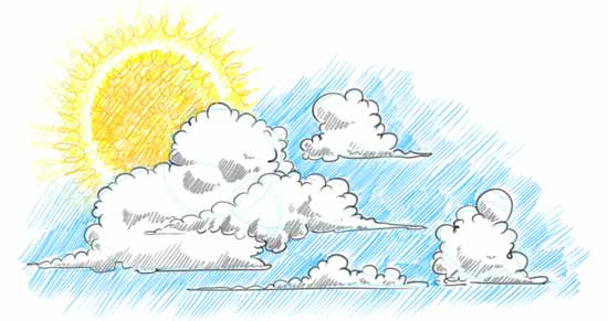 550x291 How To Draw Clouds Step By Step