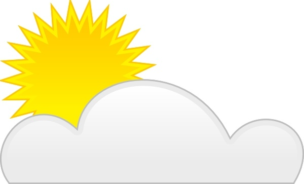 600x363 Sun Cloud Clip Art Free Vector In Open Office Drawing Svg ( Svg