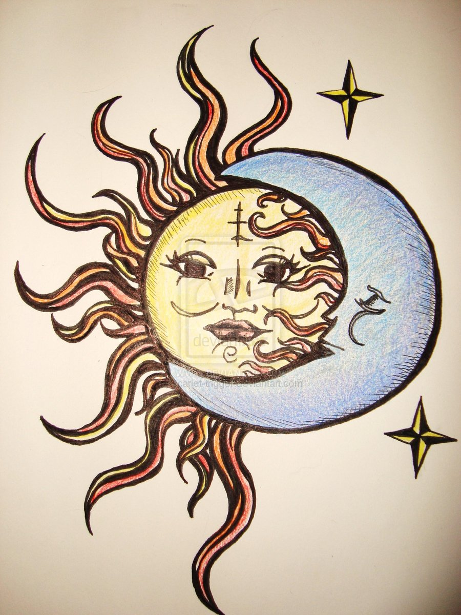 Sun And Moon Drawing Tumblr at GetDrawings.com | Free for ...