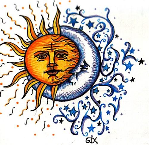 500x486 Sun And Moon Tumblr Artistic Design Moon