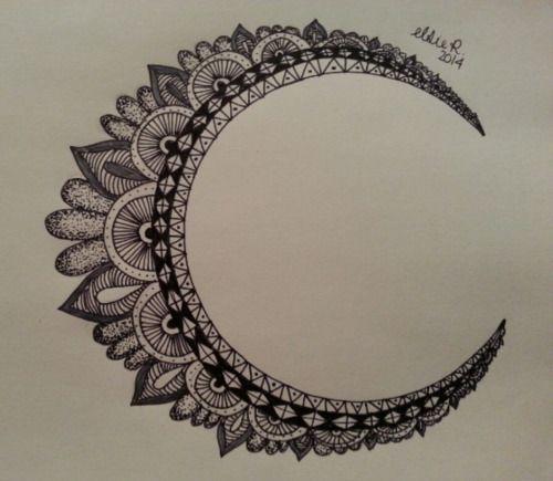 500x435 Sun And Moon Mandala Drawing Tumblr
