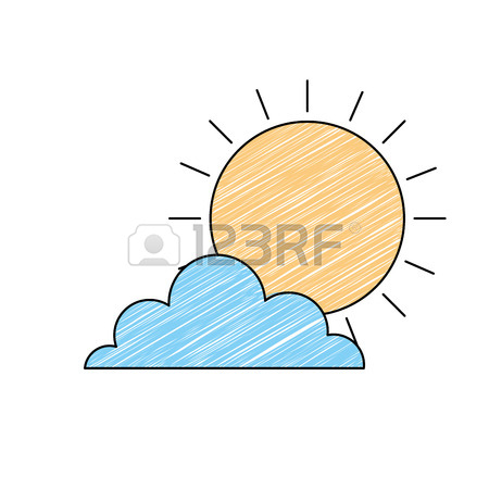 450x450 Sun Cloud Day Sky Natural Climate Vector Illustration Drawing