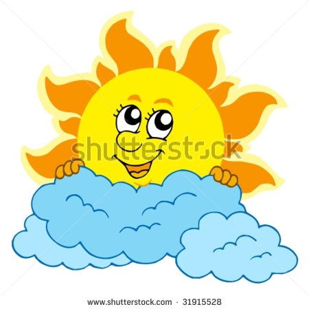 450x449 Sun Rays Through Clouds Drawing Clipart Panda