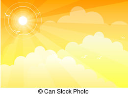 261x194 Sun Sky. Summer Sky Stock Illustration
