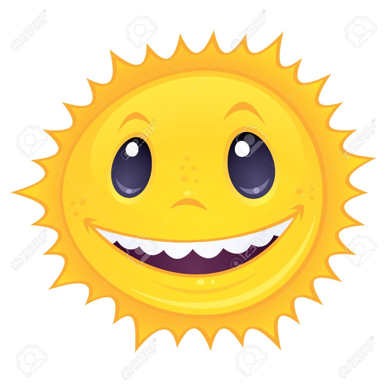 1300x1300 Cartoon Drawing Of A Happy, Smiling Sun. Great For Spring