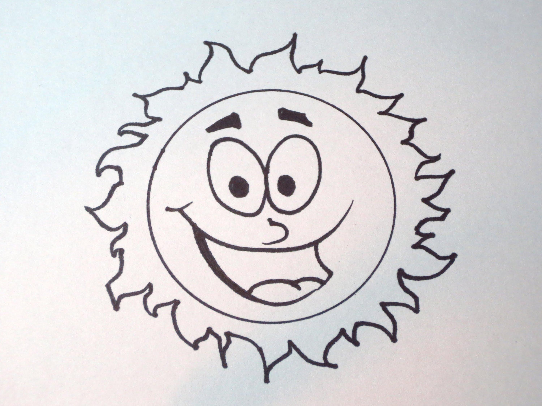 3000x2250 How To Draw A Simple Cartoon Sun