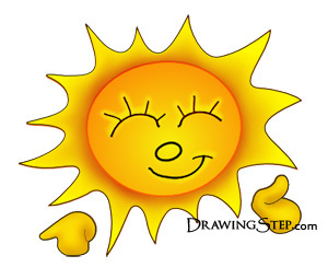 300x255 How To Draw Cartoon Sun