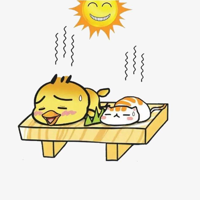 650x651 Cartoon Creative Scorching Sun, Cartoon Hand Drawing, Simple
