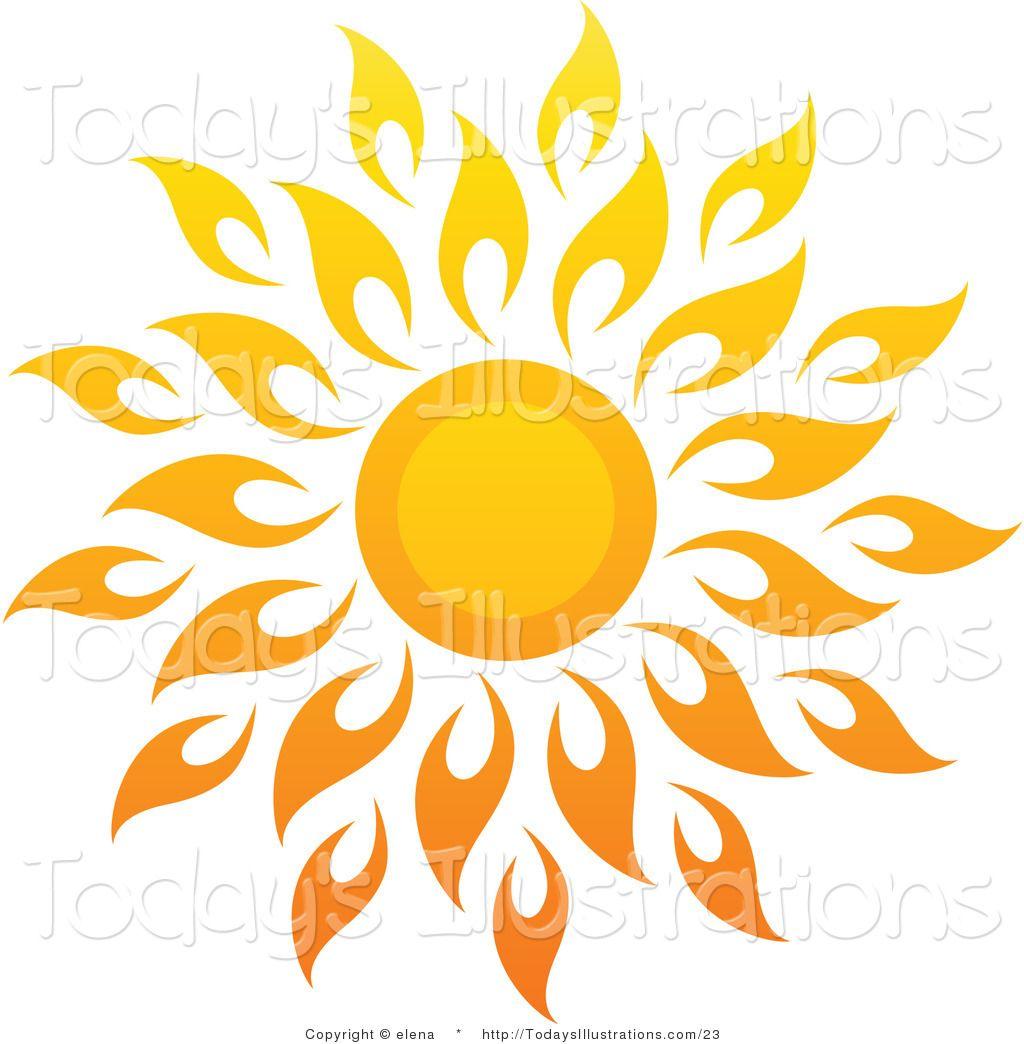 1024x1044 Sun Art Vector Clipart Of A Bright Summer Sun With Petal Rays 1