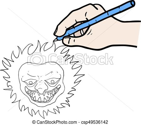 450x400 Creative Design Of Drawing Funny Sun Eps Vector