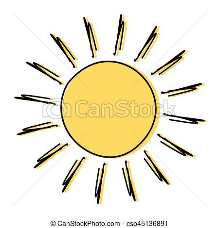 450x470 Doodle Sun Drawing Icon Illustration Eps Vectors