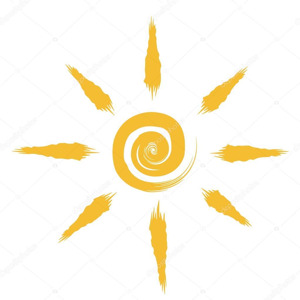 1024x1024 Abstract Sun Drawing Stock Vector Tuulijumala