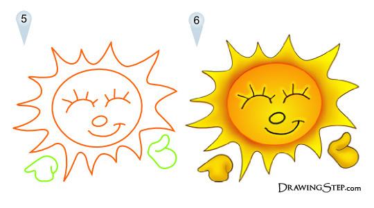 540x300 How To Draw Cartoon Sun