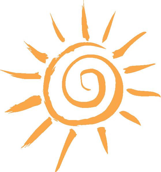 558x596 Simple Sun Motif Clip Art