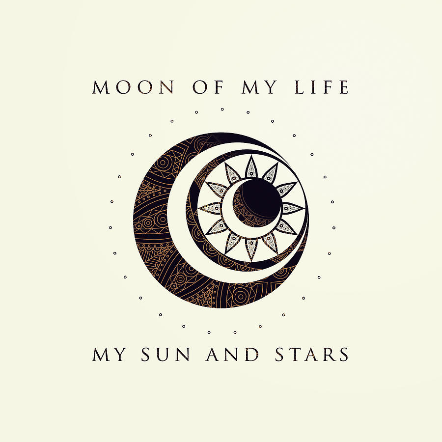 900x900 Moon Of My Life My Sun And Stars Digital Art By Rose's Creation
