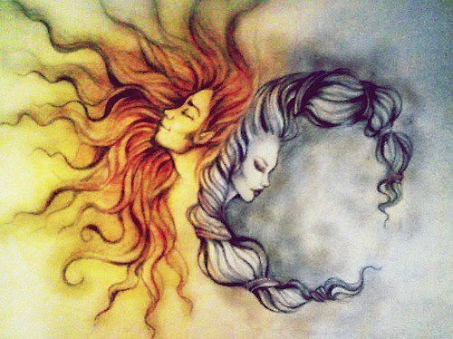 500x374 Drawing Hippie Moon Draw Psychedelic Happiness Sun Moon And Sun