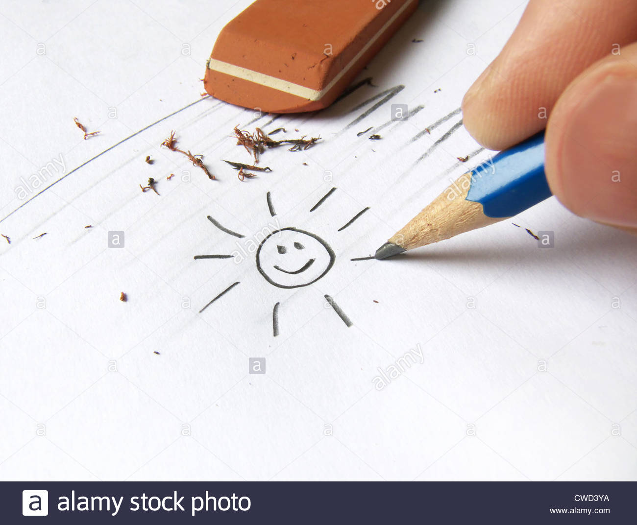 1300x1072 Sun,drawing,pencil Drawing Stock Photo, Royalty Free Image