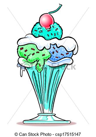 329x470 Ice Cream Sundae Wbg Cartoon Of Ice Cream Sundae In Sundae Drawing