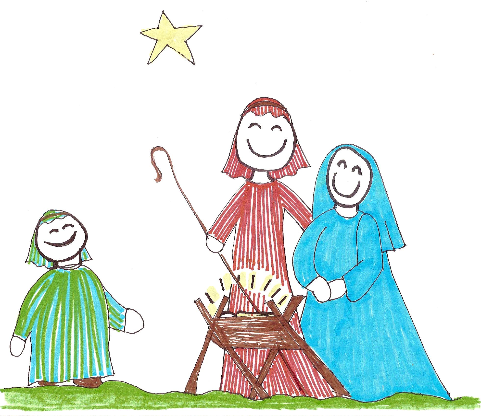 1962x1700 Advent Day 17 Sunday School Nativity Elizabeth Parsons, Artist