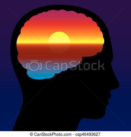 450x470 Meditation Quiet Brain Sundown Imagination. Meditation, Vector