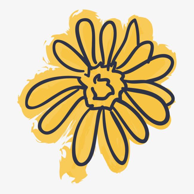 650x651 Cartoon Sunflowers, Green Plants, Cartoon Hand Drawing Png Image