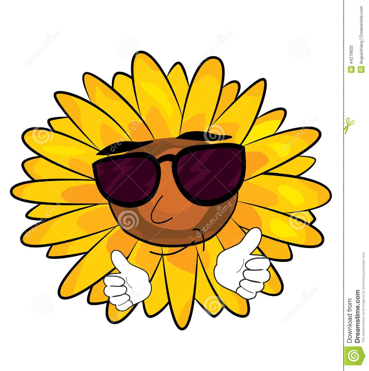 1292x1300 Sunflower Cartoon Drawing Cartoon Sunflower Stock Image
