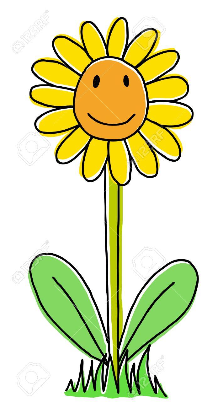 711x1300 Sunflower Cartoon Drawing Joy Hand Drawn Sunflower, Cartoon