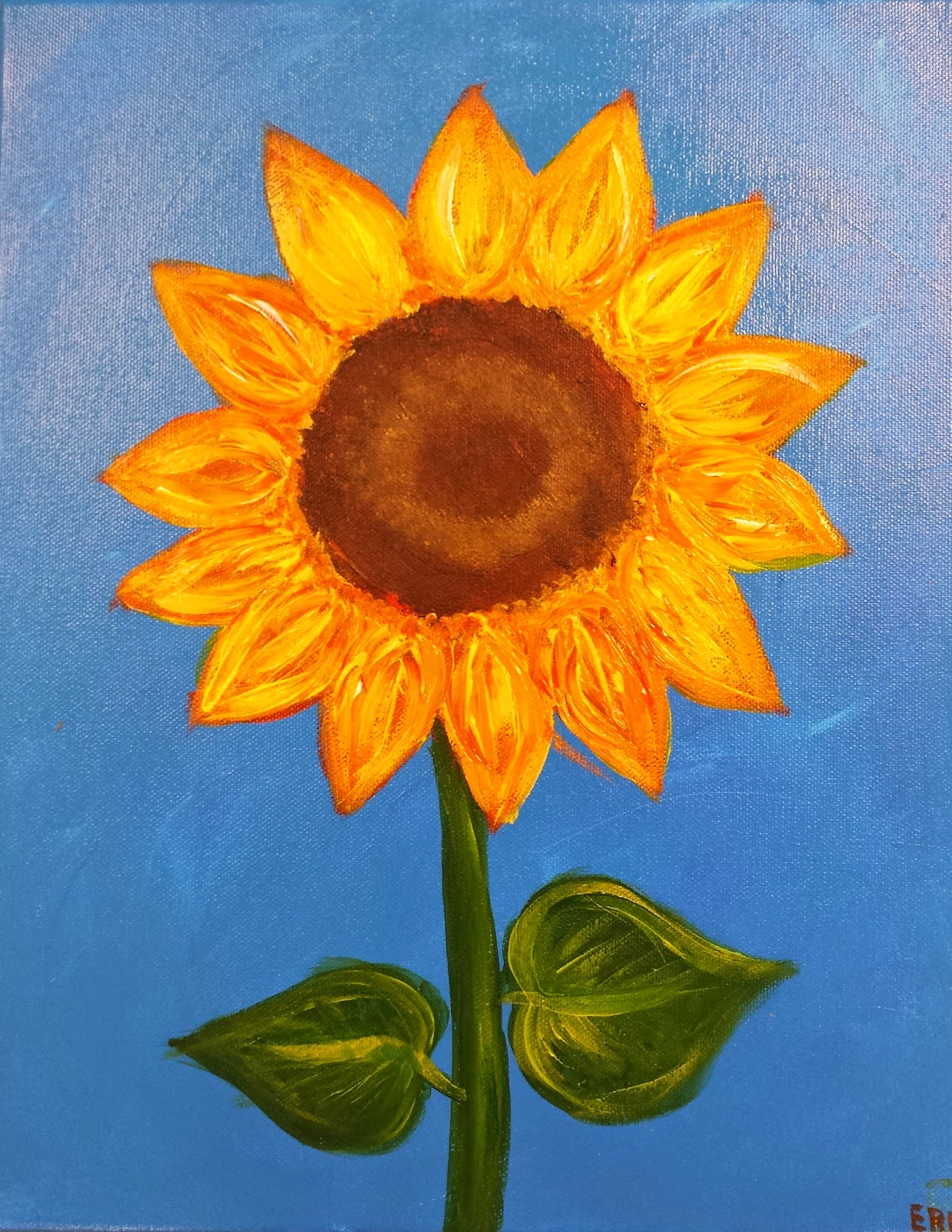 1237x1600 Angela Anderson Art Blog Sunflower Paintings