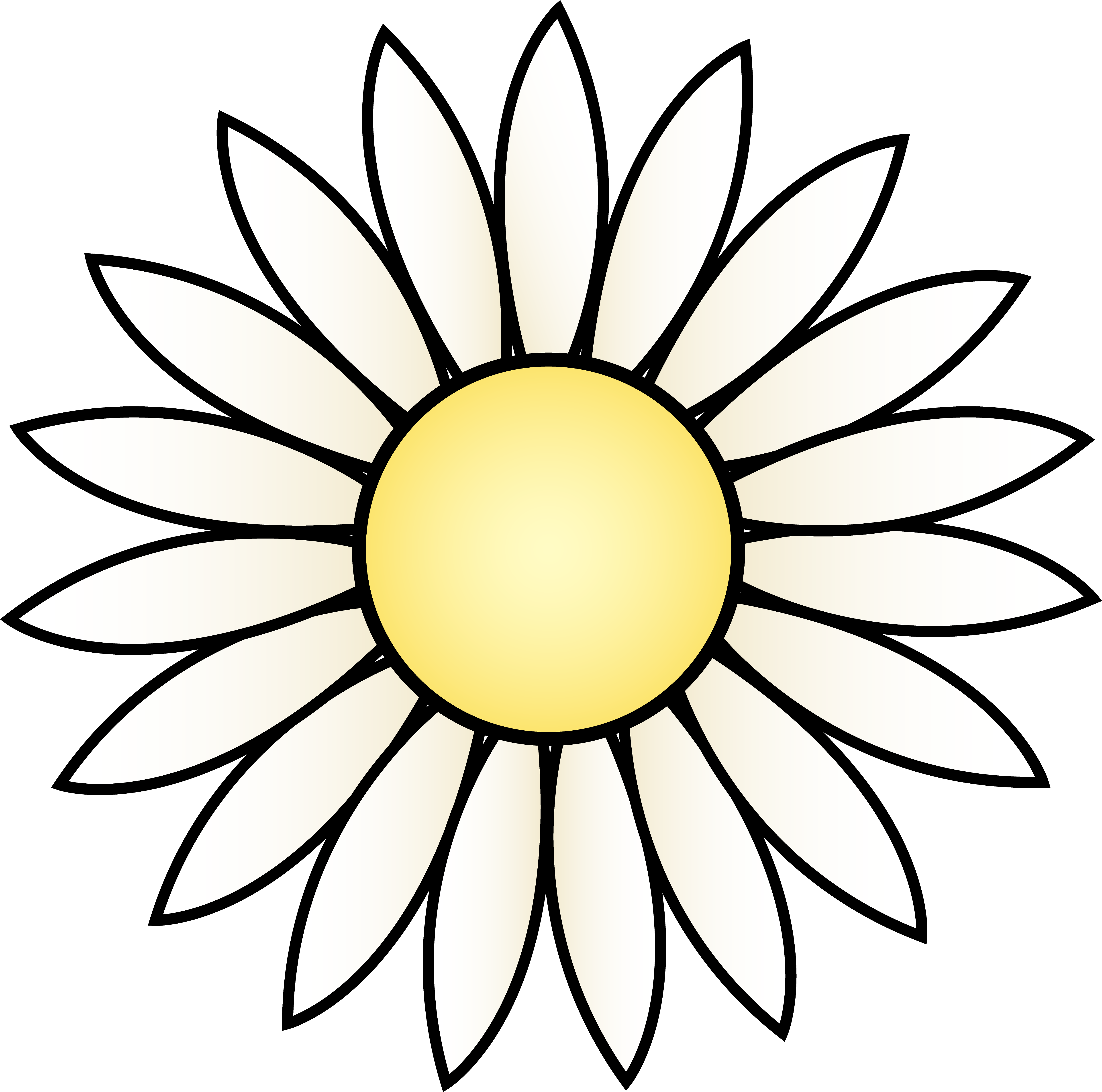 Sunflower Drawing Template at GetDrawings.com | Free for personal ...