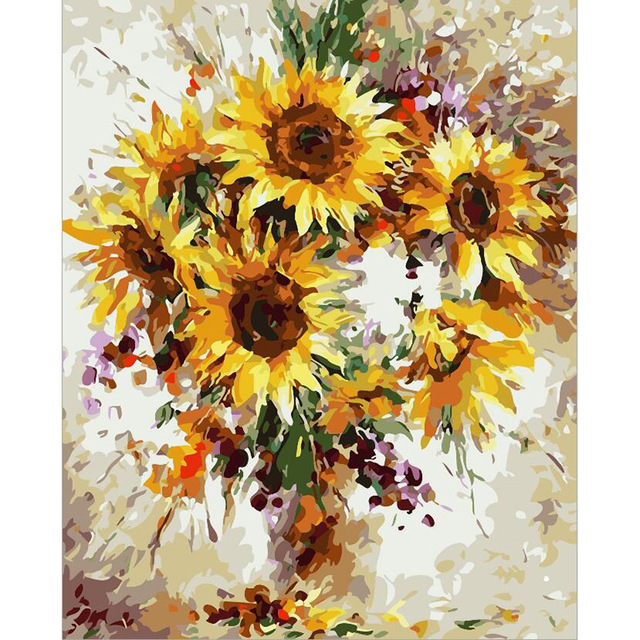 640x640 Diy Oil Painting Paint By Number Canvas Picture Home Wall Decor