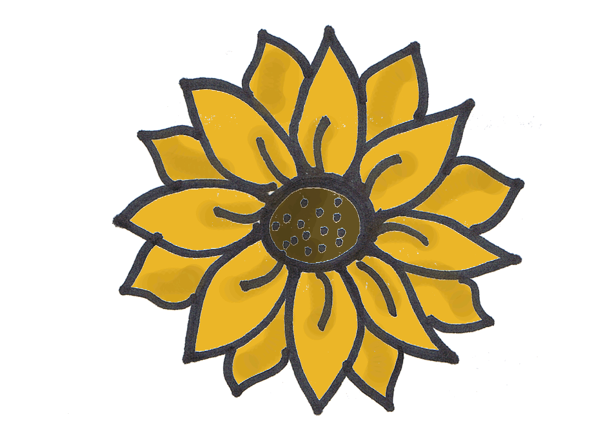 1209x873 Drawings Pictures Of Sun Flowers Fresh Easy To Draw Sunflowers 51