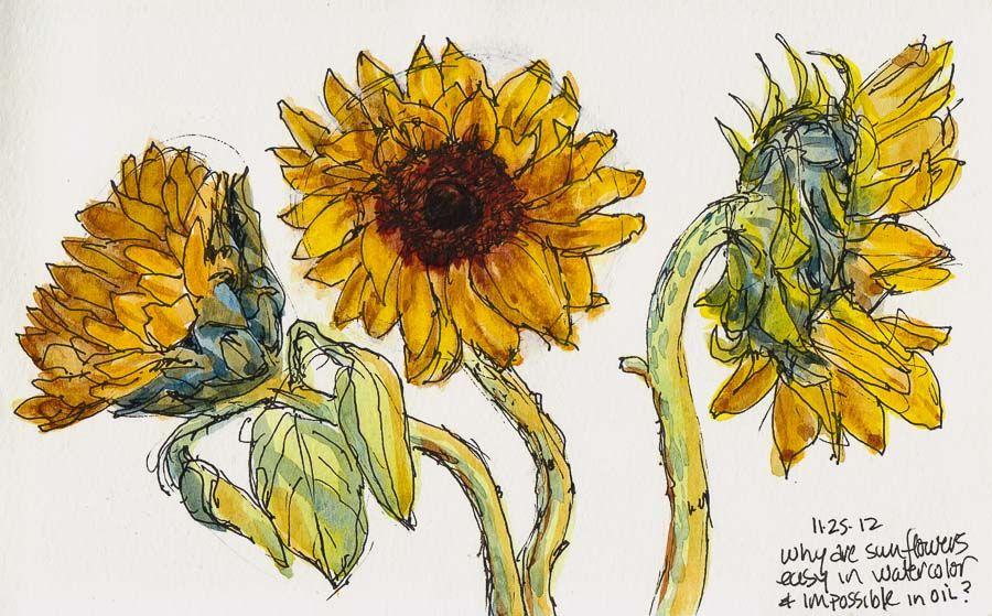 900x559 Sunflowers Studies, Struggles, Stubborness Jana Bouc, Artist