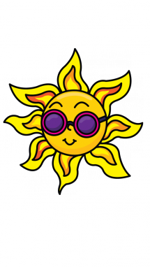 215x382 How To Draw A Sun With Sunglasses, Easy Step By Step Drawing Tutorial