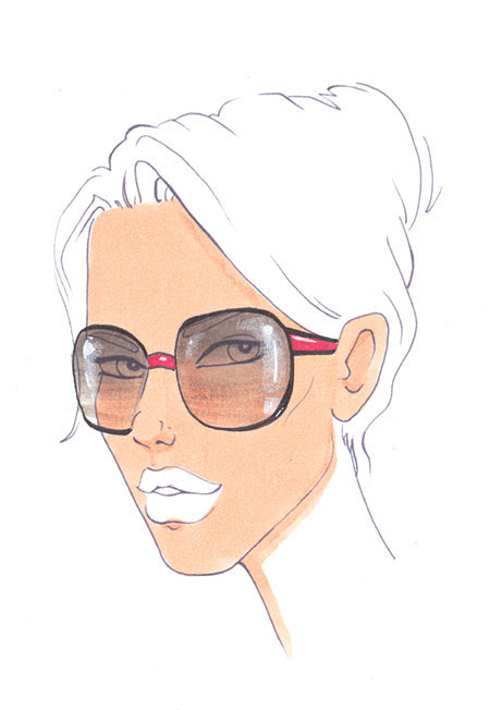 450x652 How To Draw Sunglasses I Draw Fashion