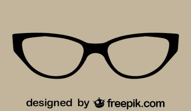 626x366 Retro Classic Cat Eye Glasses Vector Free Download