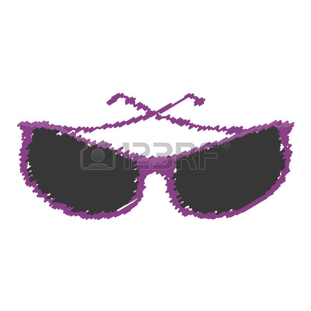 450x450 Sunglasses Modern Style Drawing Isolated Icon Vector Illustration
