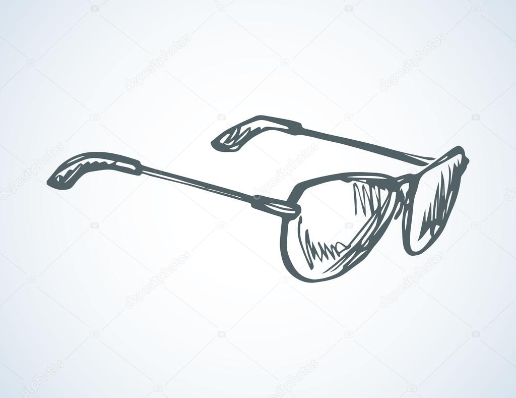 1024x789 Sunglasses. Vector Drawing Stock Vector Marinka