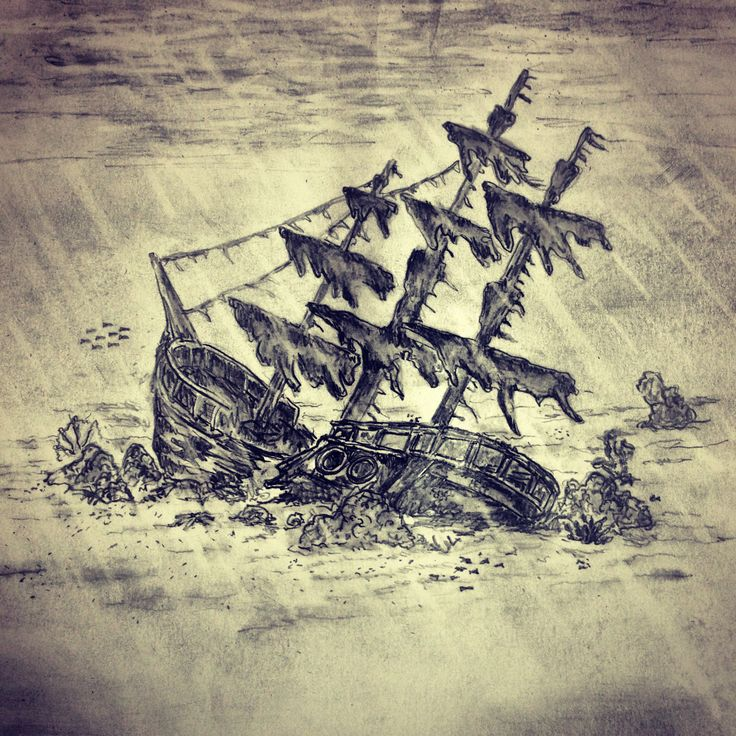sunken ship drawing at getdrawings com free for personal use