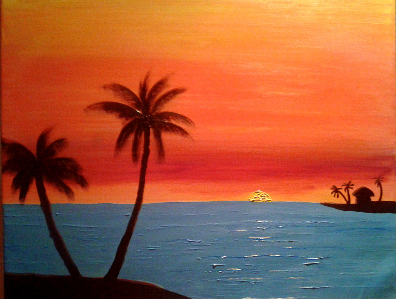 1388x1047 Art By Daiho Roshi South Beach Sunrise