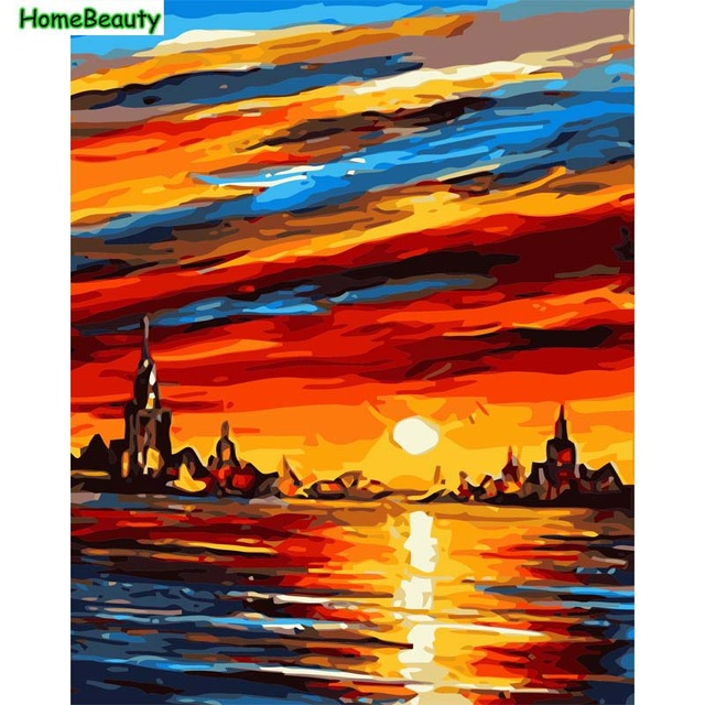 640x640 Home Beauty Digital Diy Oil Painting By Numbers Canvas Picture