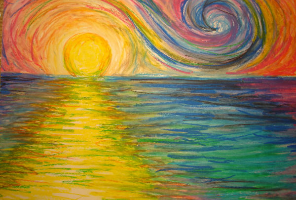 600x405 Sun Rise Images Drawing