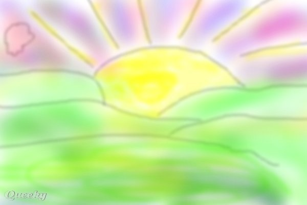 600x400 Sunrise A Landscape Speedpaint Drawing By Nessyboo1